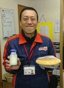 ミルクで元気製パンケーキを頂きました。